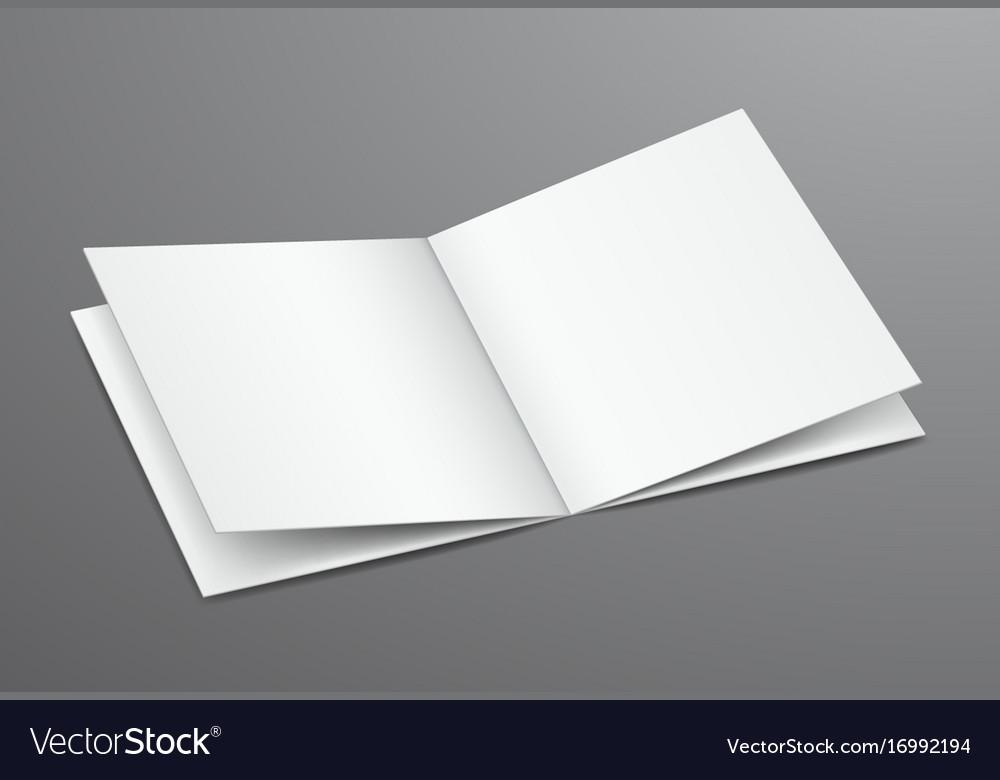 Blank white open brochure magazine Royalty Free Vector Image