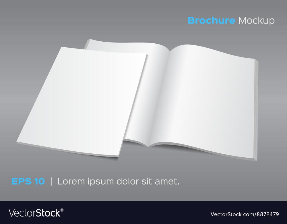 Blank opened magazine or brochure mockup Vector Image