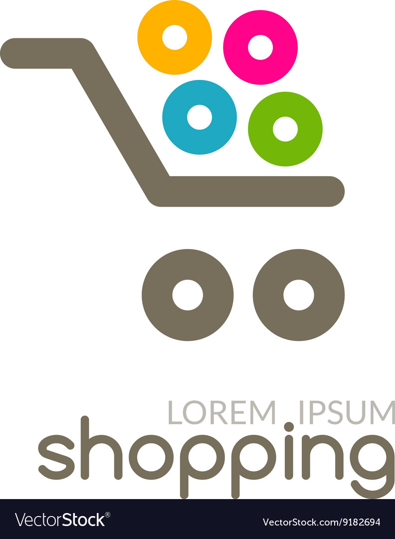 Design Online Shop Online Shop Mall Market Concept Cart Logo Design