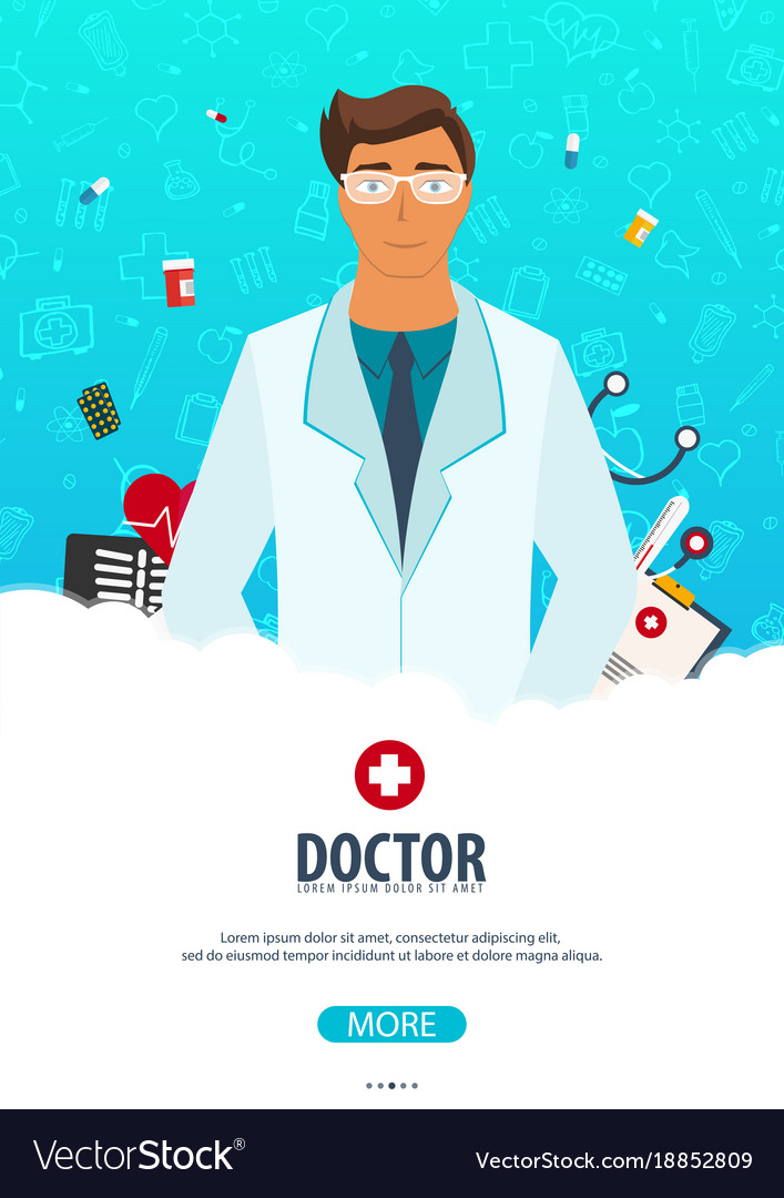 Doctor medical poster health care Royalty Free Vector Image