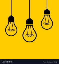 Light Bulbs Hanging from the Ceiling Royalty Free Vector