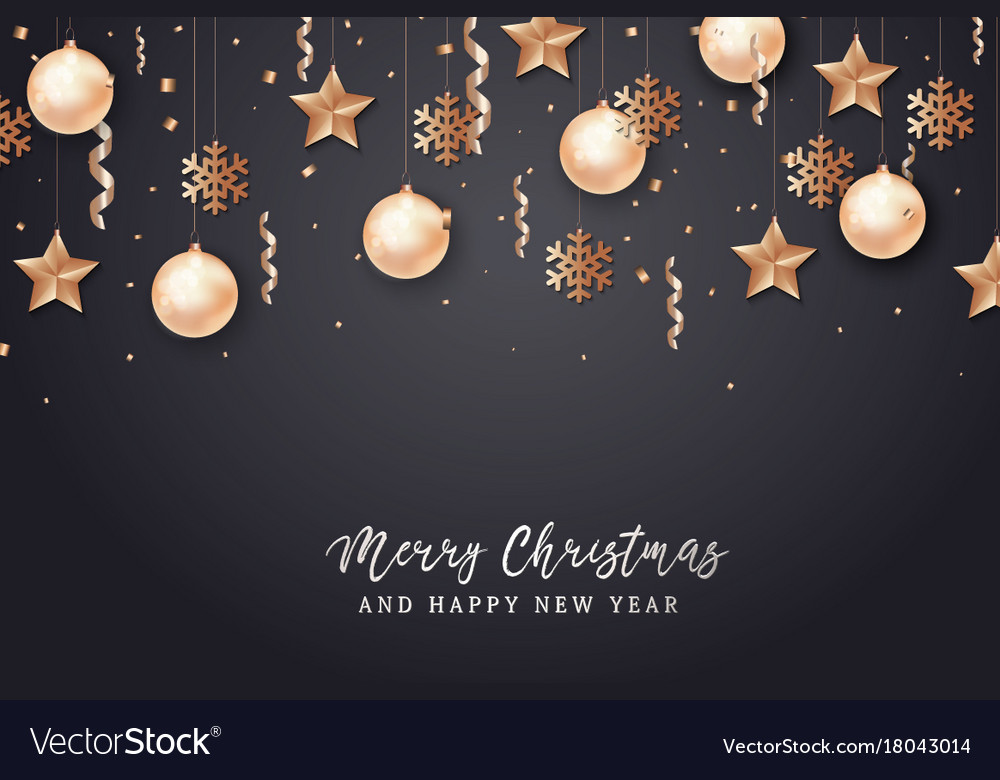 Merry christmas and 2018 new year background Vector Image