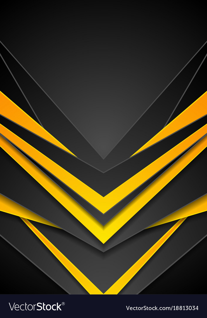 Gold 3d Hd Wallpapers Black Orange Abstract Tech Arrows Flyer Background