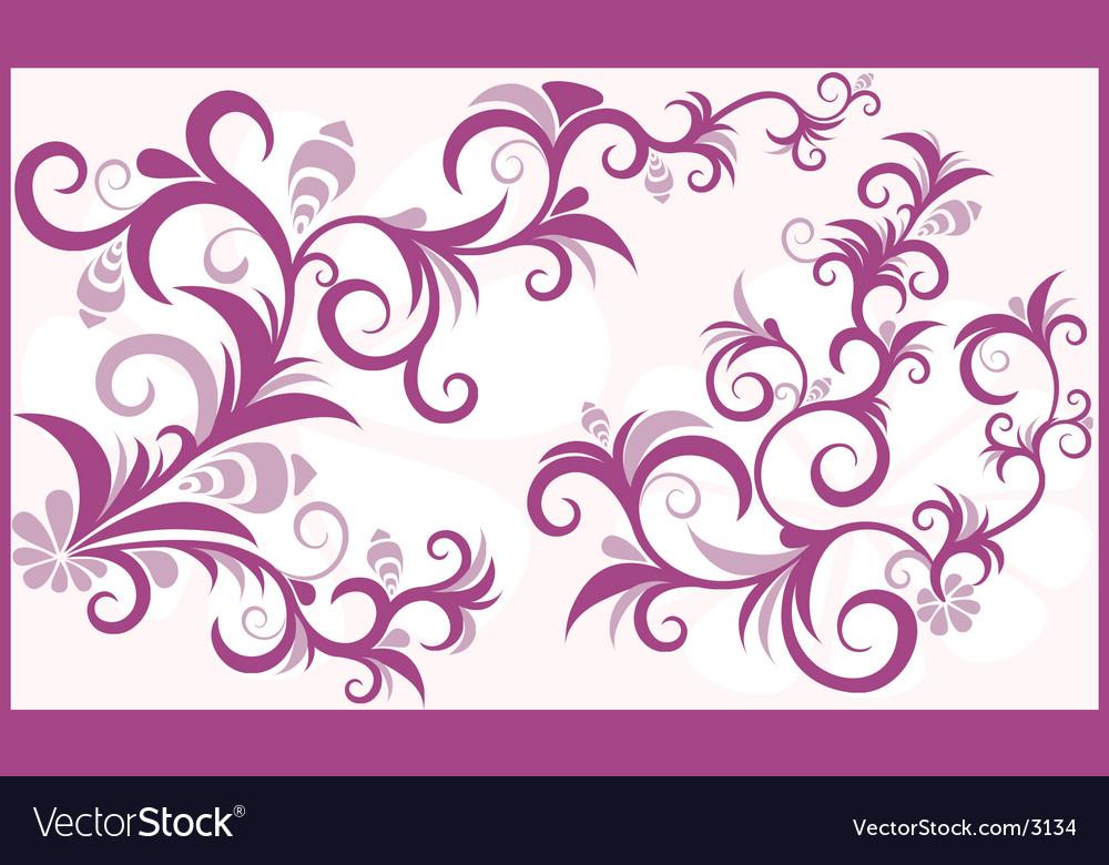 Floral boarder Royalty Free Vector Image - VectorStock