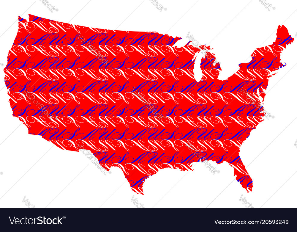 Usa text map background Royalty Free Vector Image