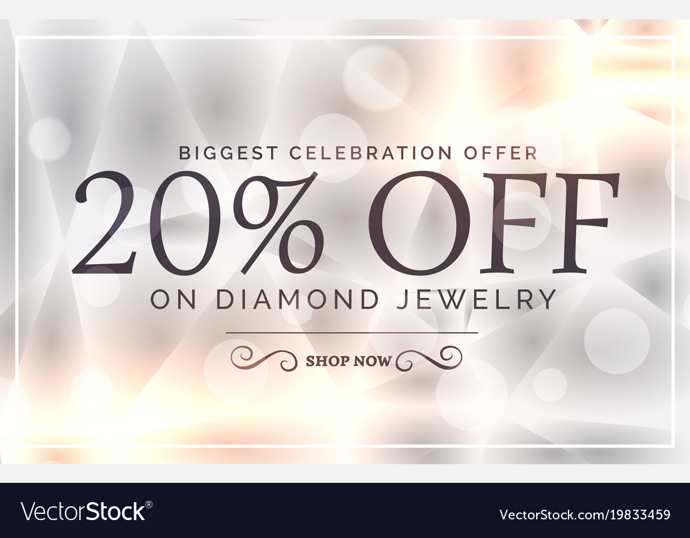 Premium jewelry style sale banner template Vector Image