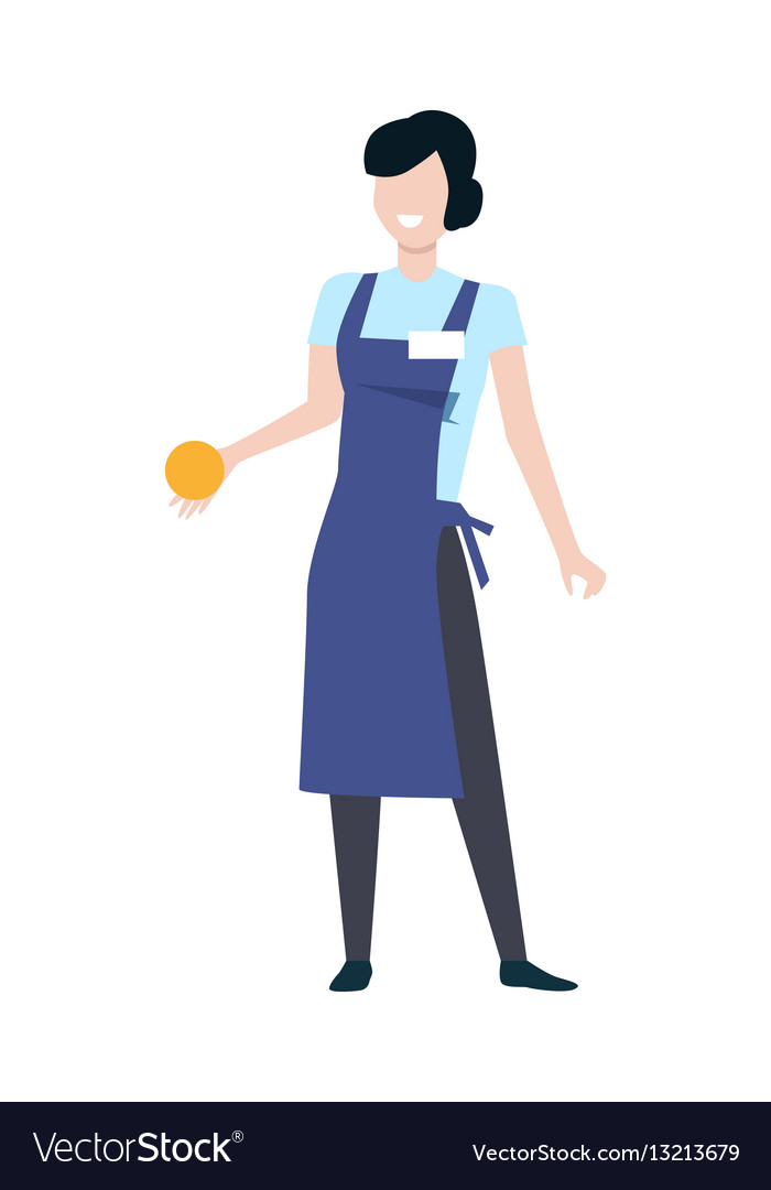 Shop assistant woman character Royalty Free Vector Image