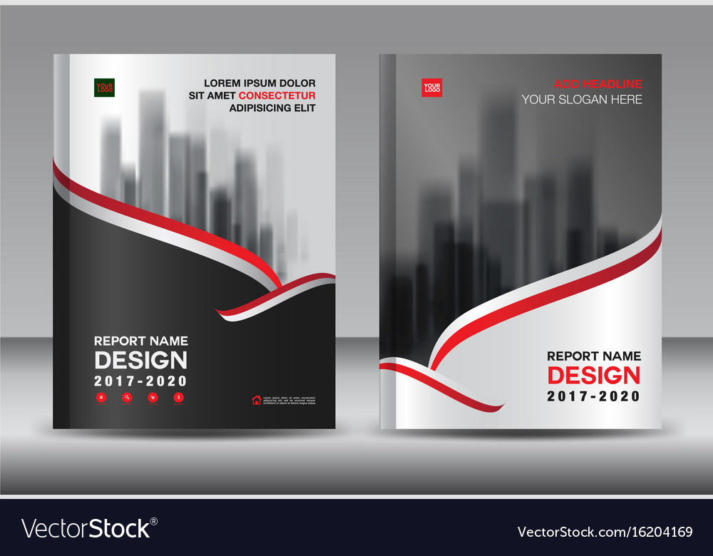 Brochure template layout black cover design Vector Image