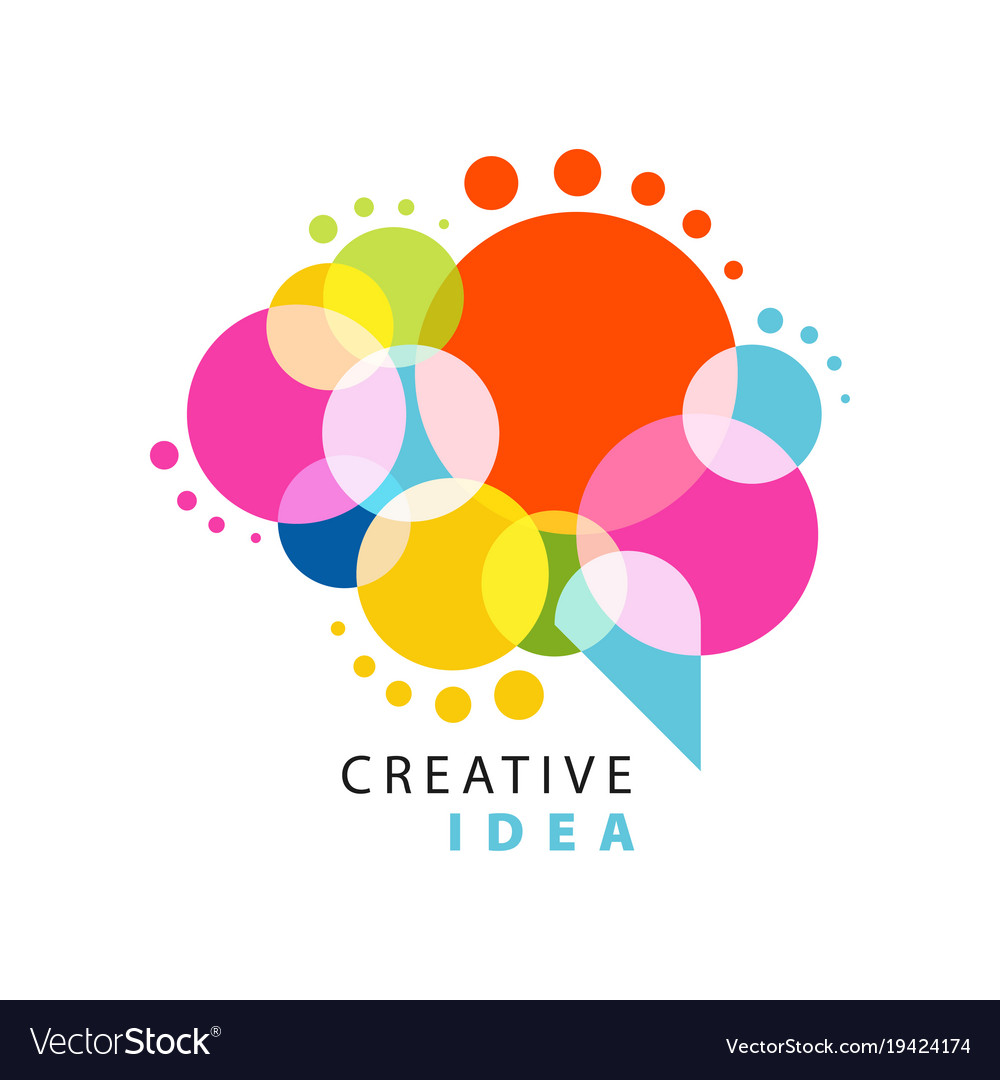 Creative Idea Creative Idea Logo Template With Abstract Colorful Vector Image On Vectorstock