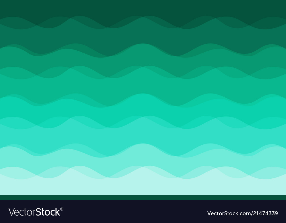 Green waves background for design Royalty Free Vector Image