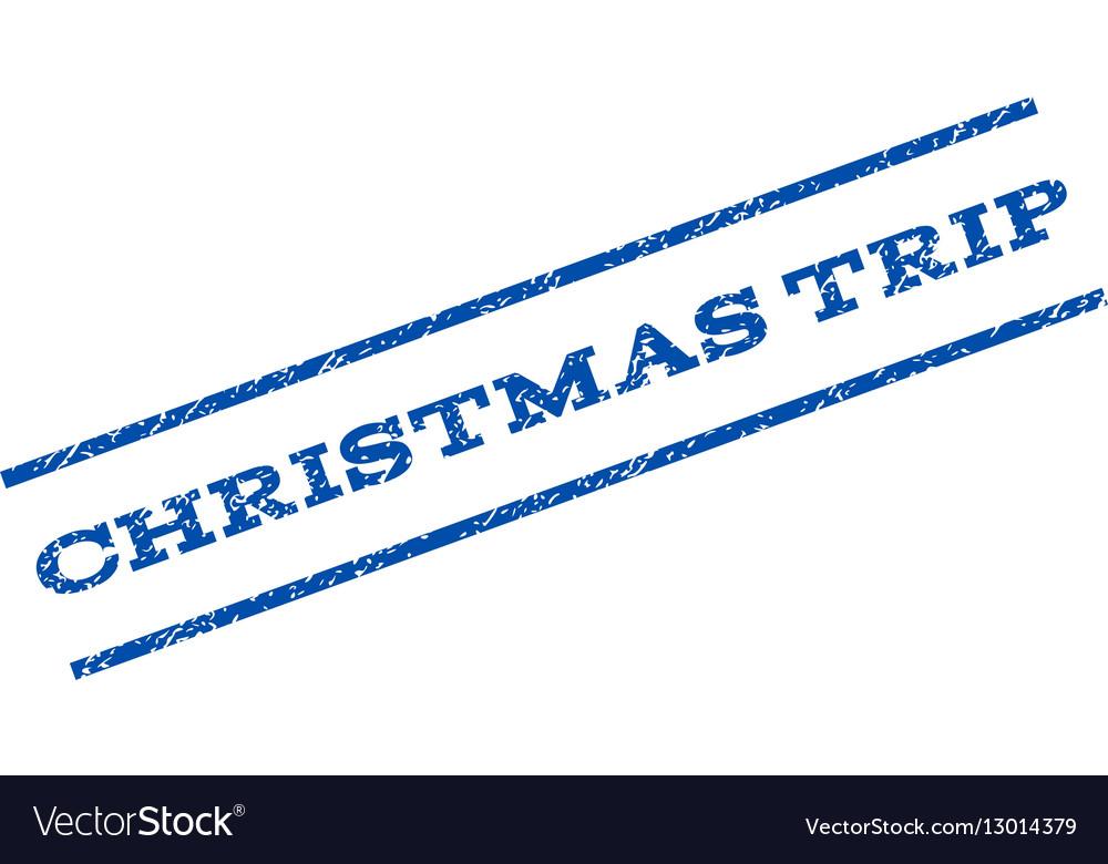 Christmas Trip Watermark Stamp Royalty Free Vector Image - watermark christmas