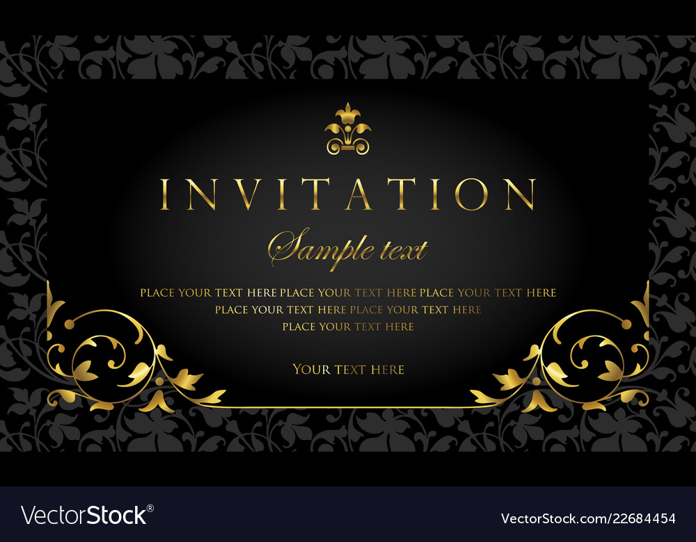 Invitation card luxury design template Royalty Free Vector