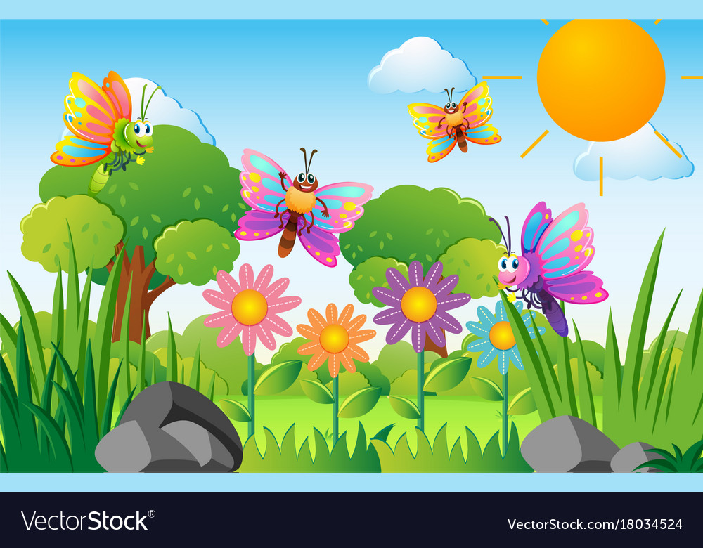 Cute Cartoon Fairy Wallpaper Cartoon Flower Garden Images Flowers Healthy