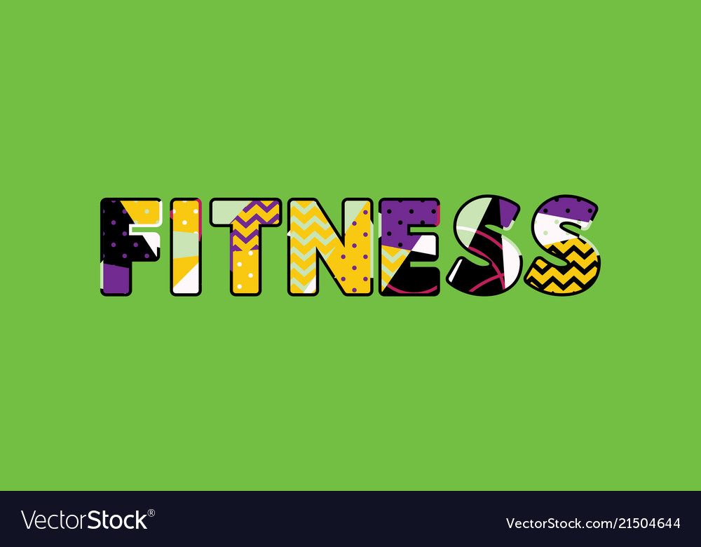 Fitness concept word art Royalty Free Vector Image