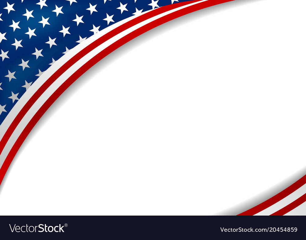 Usa or america flag design on white background Vector Image