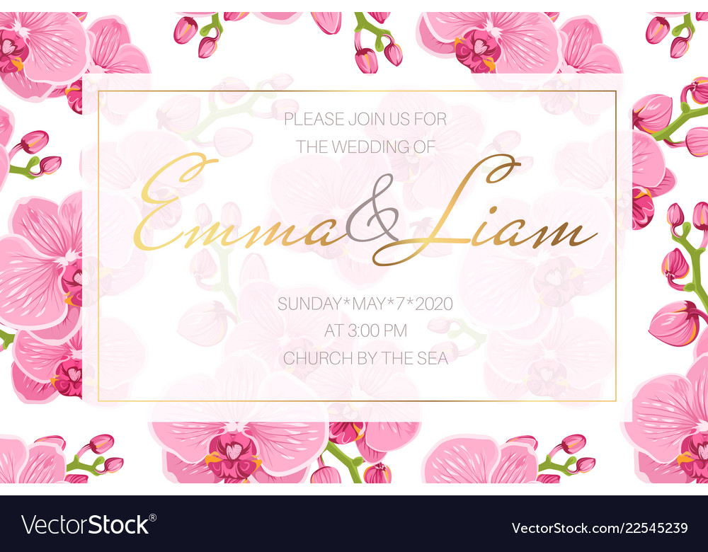 Wedding event invitation card template