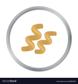 Reputable Cavatappi Pasta Icon Cartoon Style Isolated On Vector 12685309 What Is Cavatappi Amatriciana What Is Cavatappi Pasta Made Of