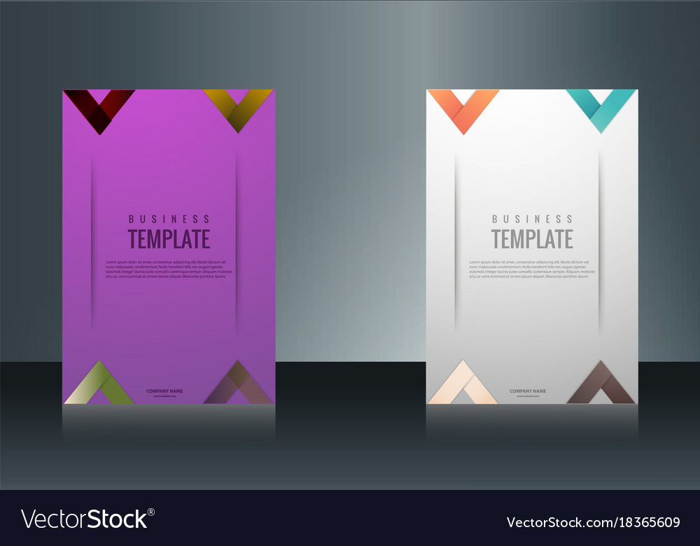 Sets of vertical business card print template Vector Image - vertical business card