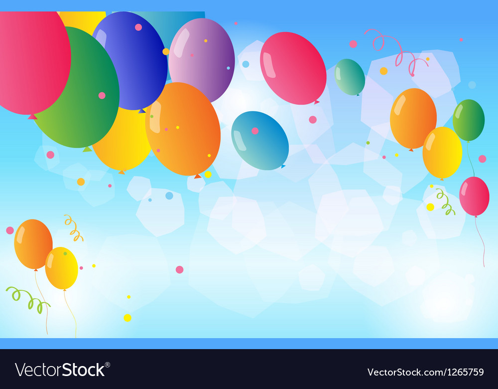 Colorful balloons floating in the sky Royalty Free Vector