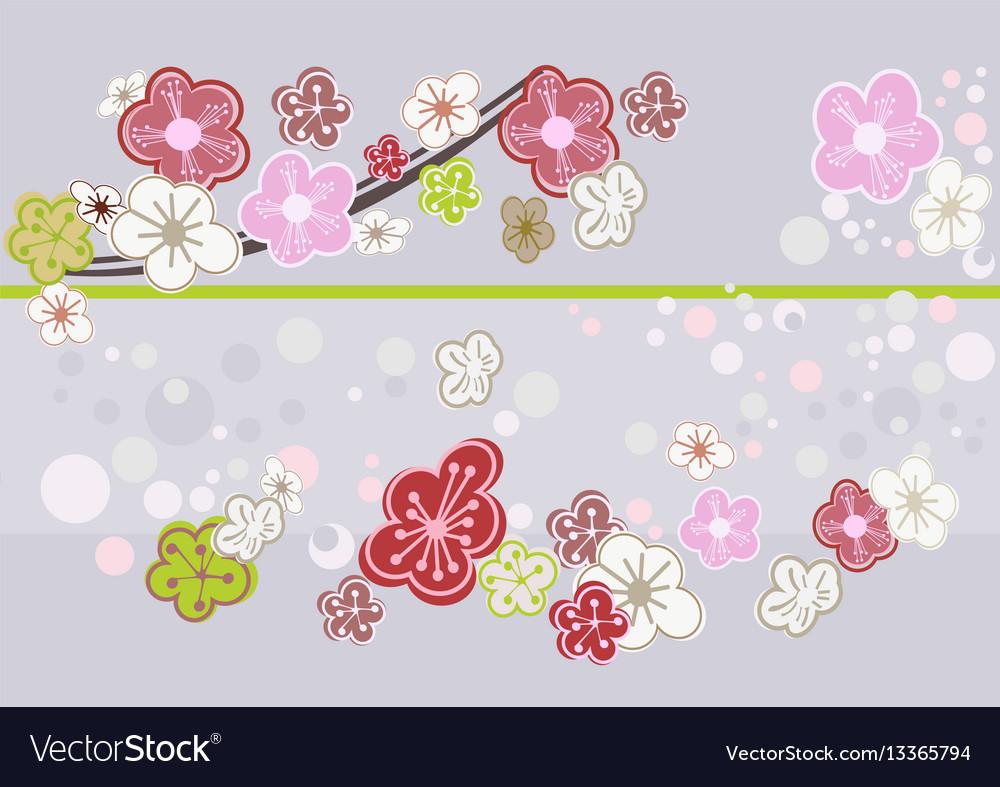 Dainty Abstract Cherry Blossom Art Vector Image Abstract Cherry Blossom Art Royalty Free Vector Cherry Blossom Artificial Tree Cherry Blossom Arts Crafts baby Cherry Blossom Art