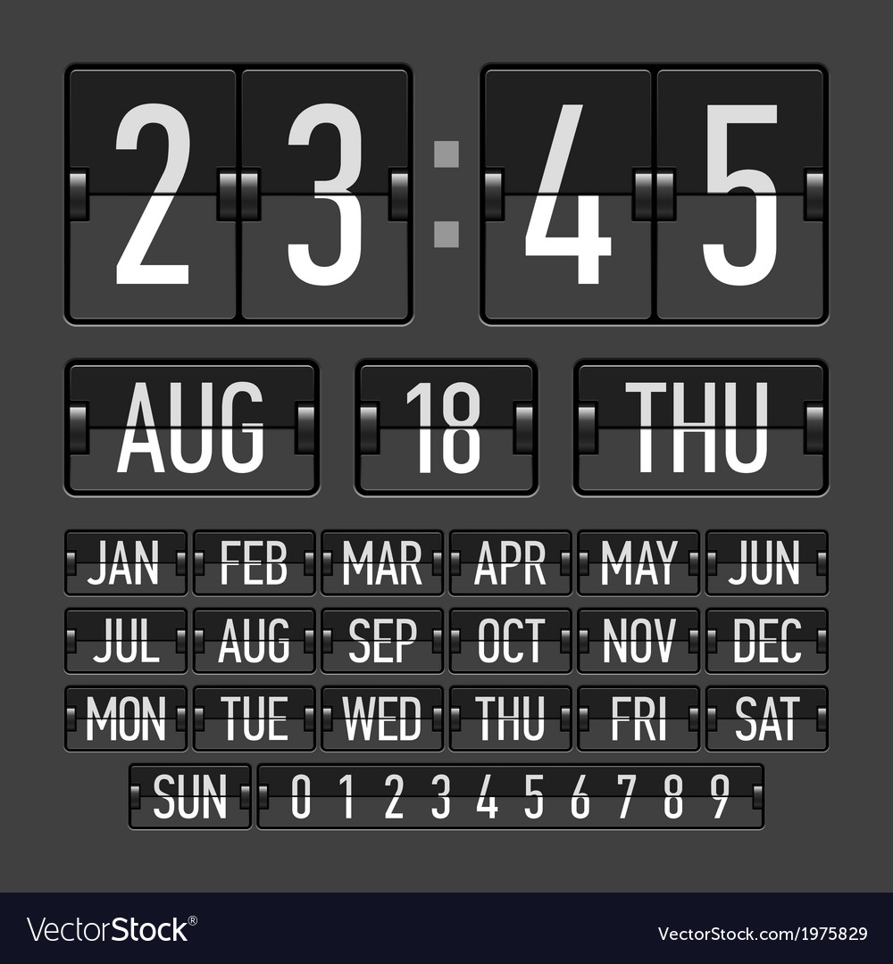 Flip Clock Flip Clock Template With Time Date And Day