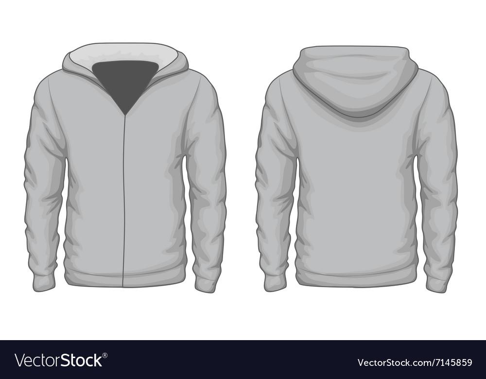 Hoodies shirt template Royalty Free Vector Image