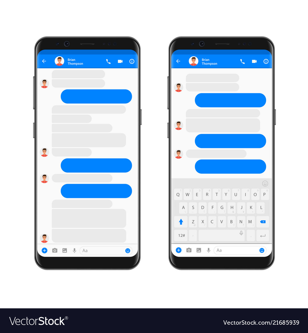Möbel Modern Design Mobile Modern Ui Kit Messenger On The Smartphone