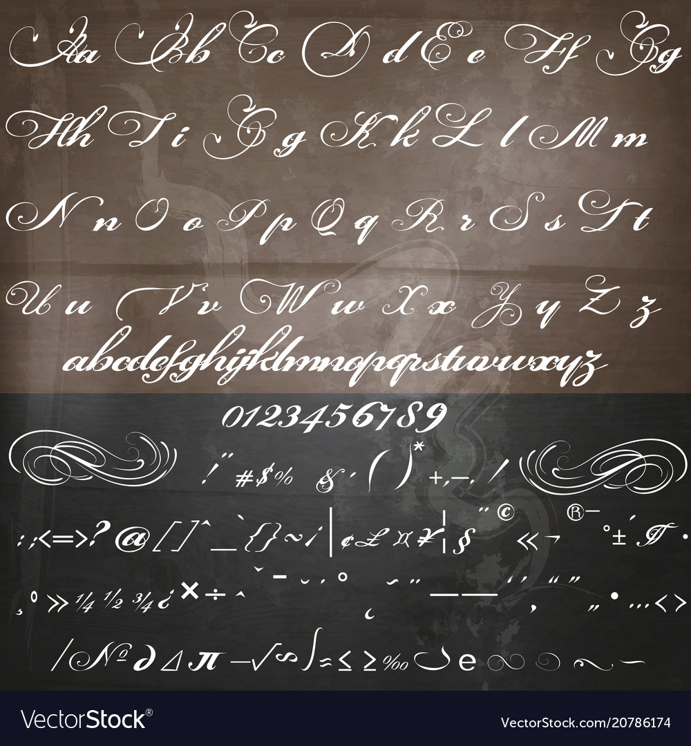 Calligraphy Fonts Victorian Hand Made Script Font In Vintage Victorian Style