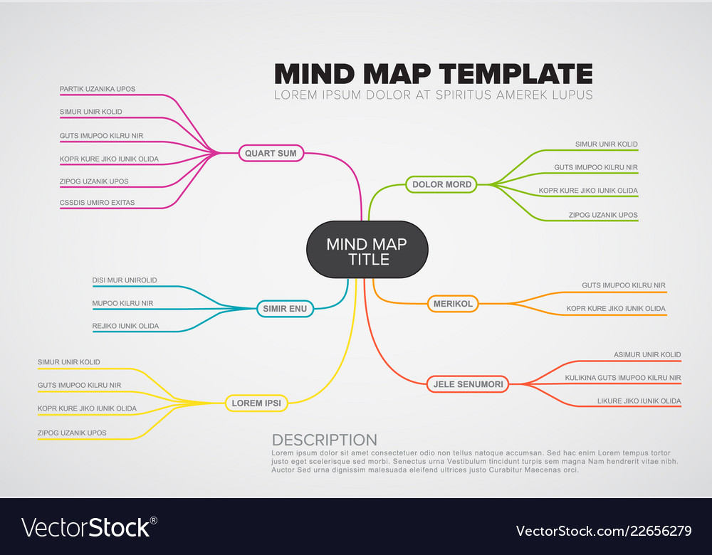 Abstract mind map infographic template Royalty Free Vector