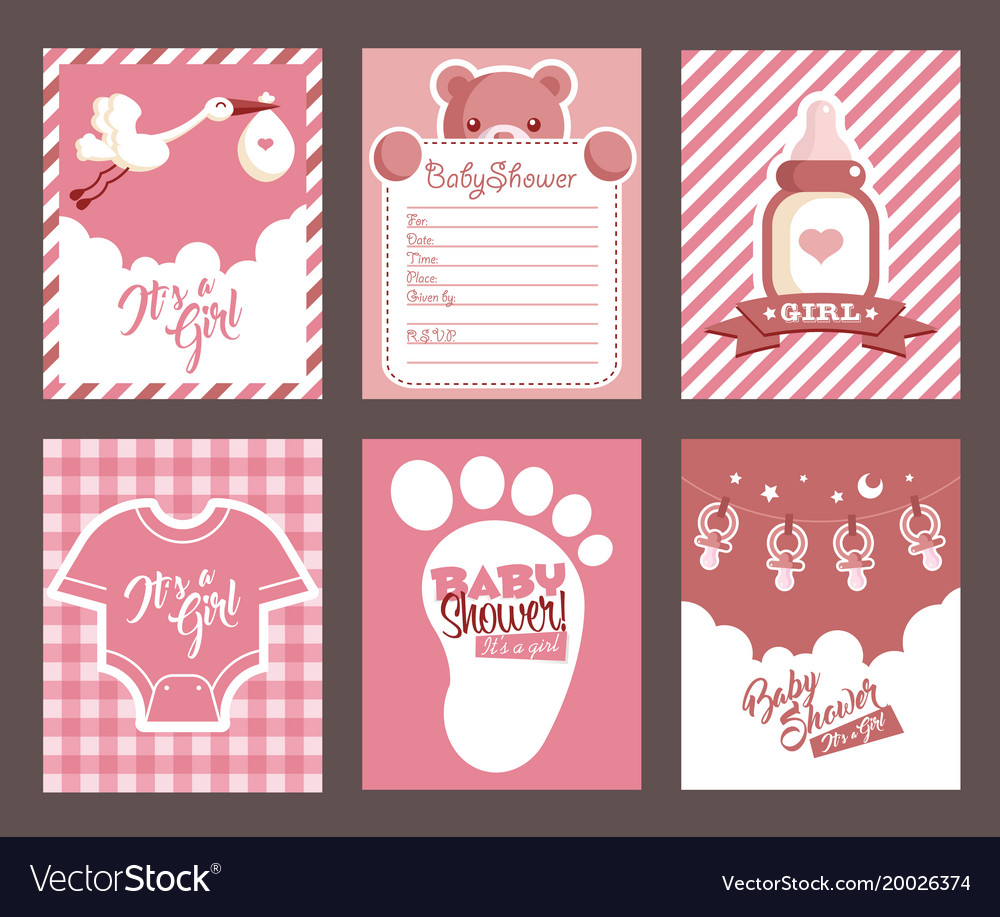 Fullsize Of Girl Baby Shower Invitations