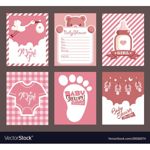 Medium Crop Of Girl Baby Shower Invitations