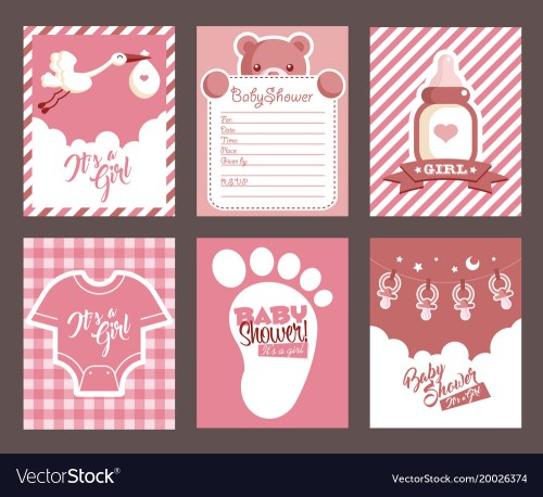Medium Of Girl Baby Shower Invitations
