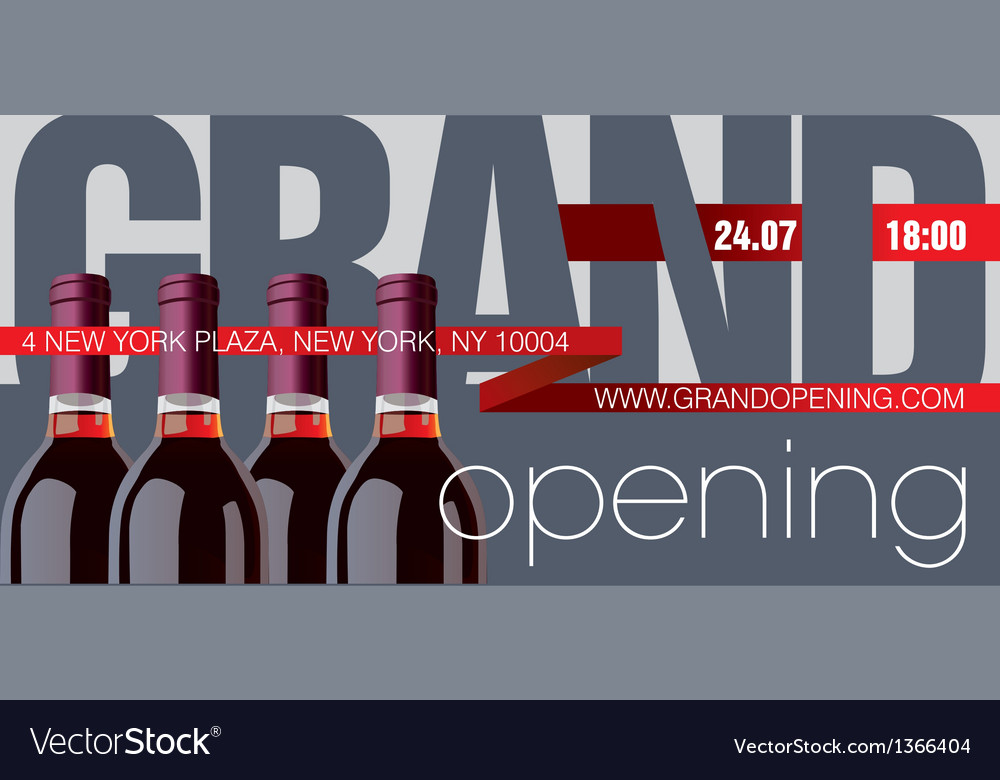 Grand Opening Flyer Template Royalty Free Vector Image - Grand Opening Flyer