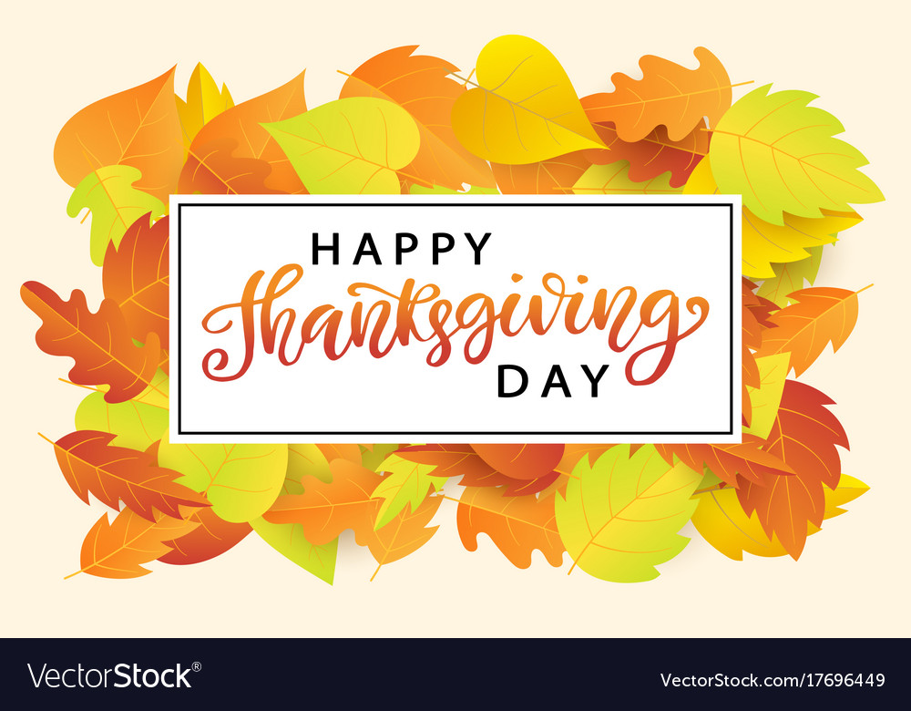 Happy thanksgiving day poster template Royalty Free Vector