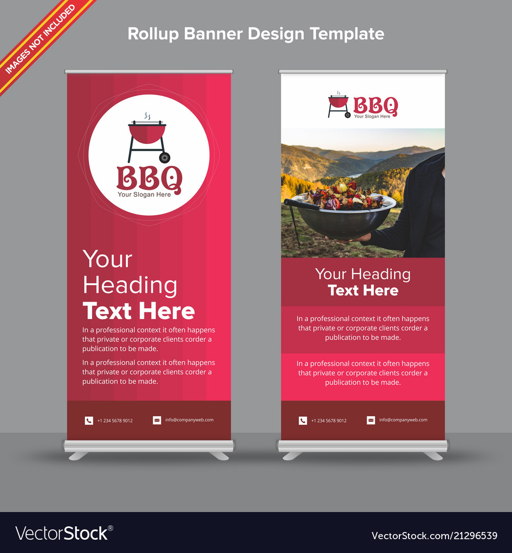 Rollup Gradient Rollup Banner In Cherry Shades