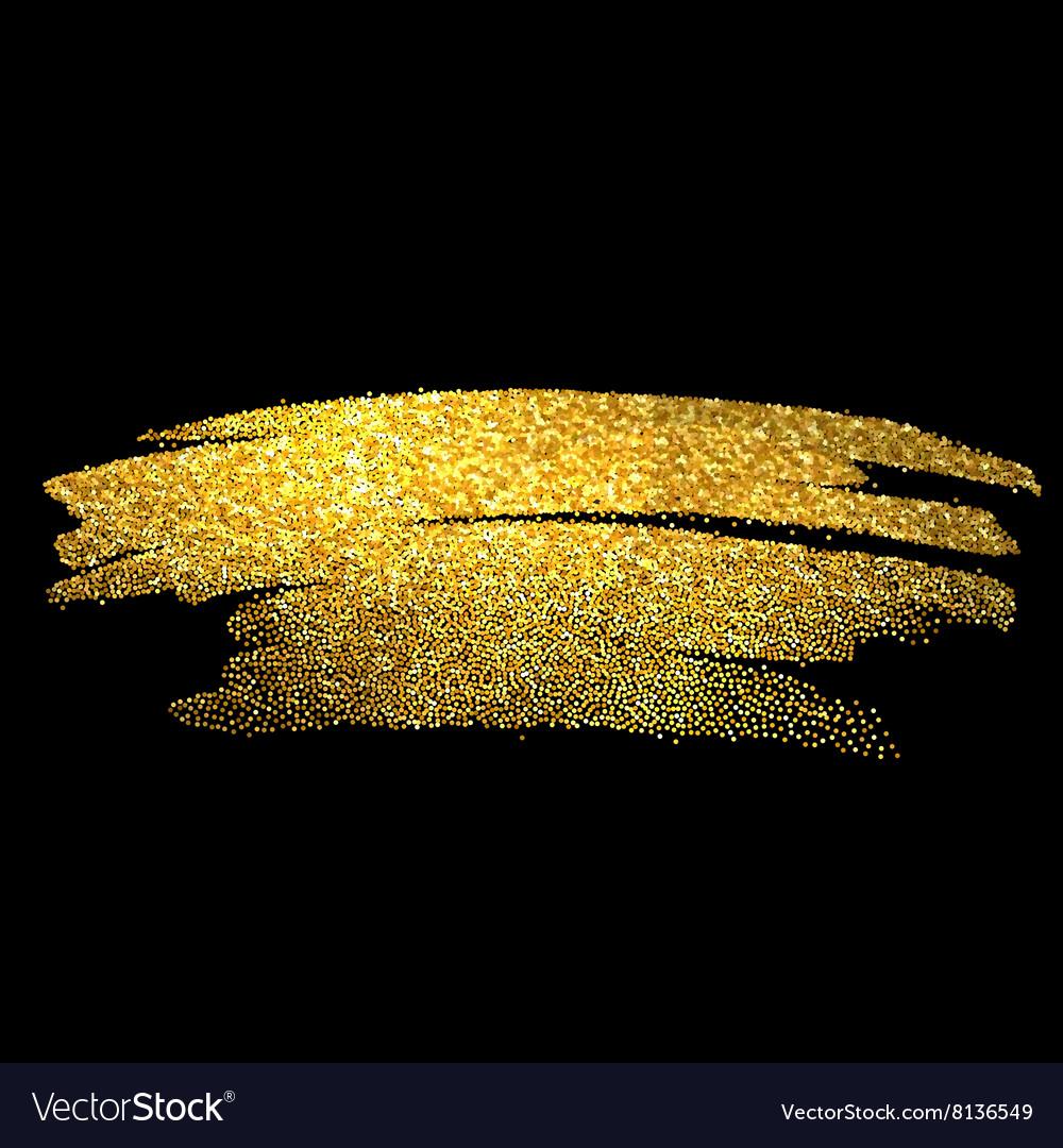 Black Rose Wallpaper 3d Gold Sparkles On Black Background Gold Glitter Vector Image
