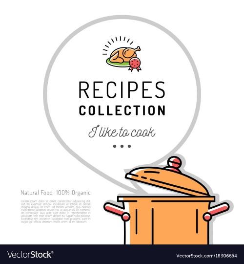 Medium Of Recipe Book Template