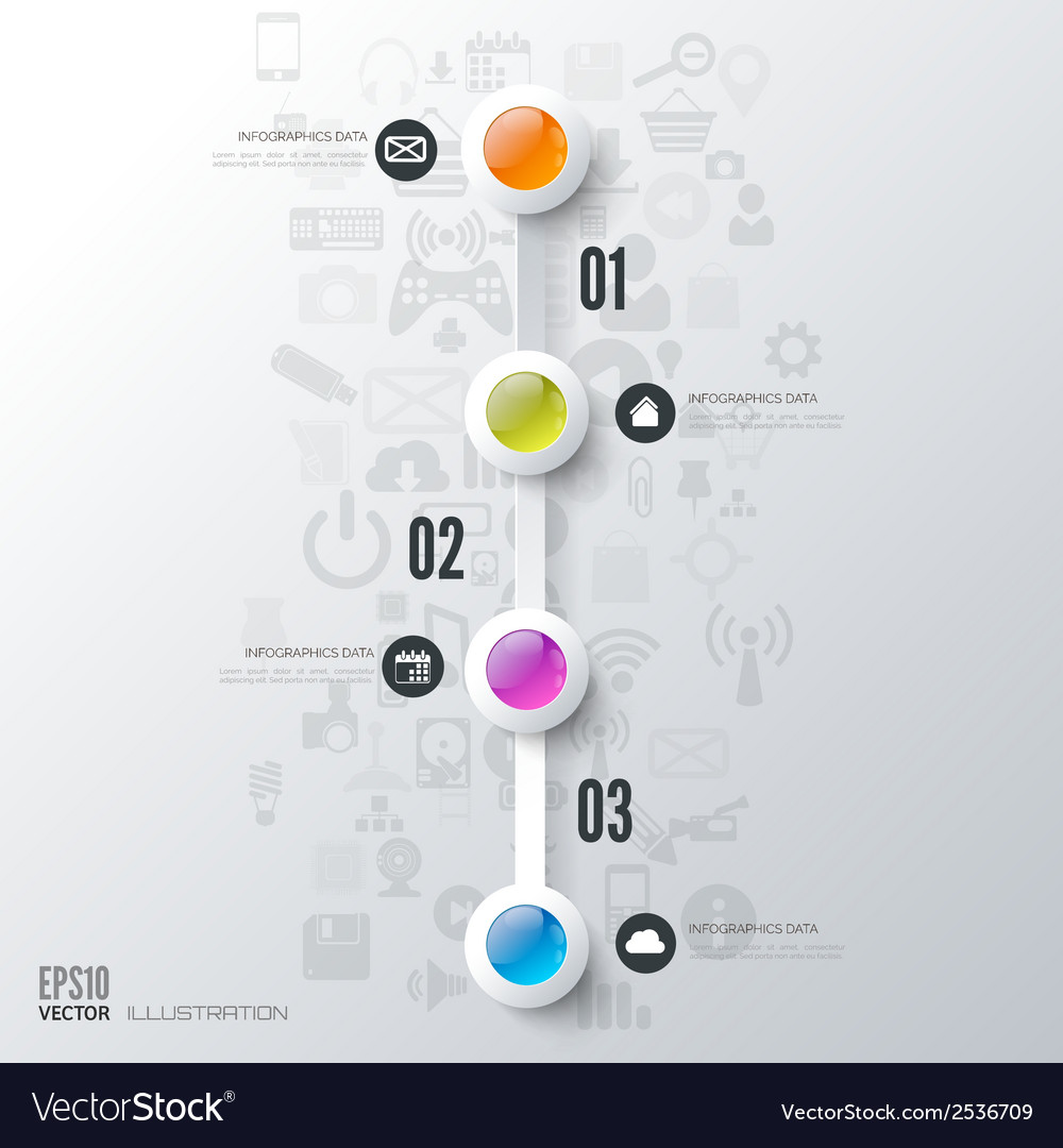 Business Step Business Step Infographic Timeline Background