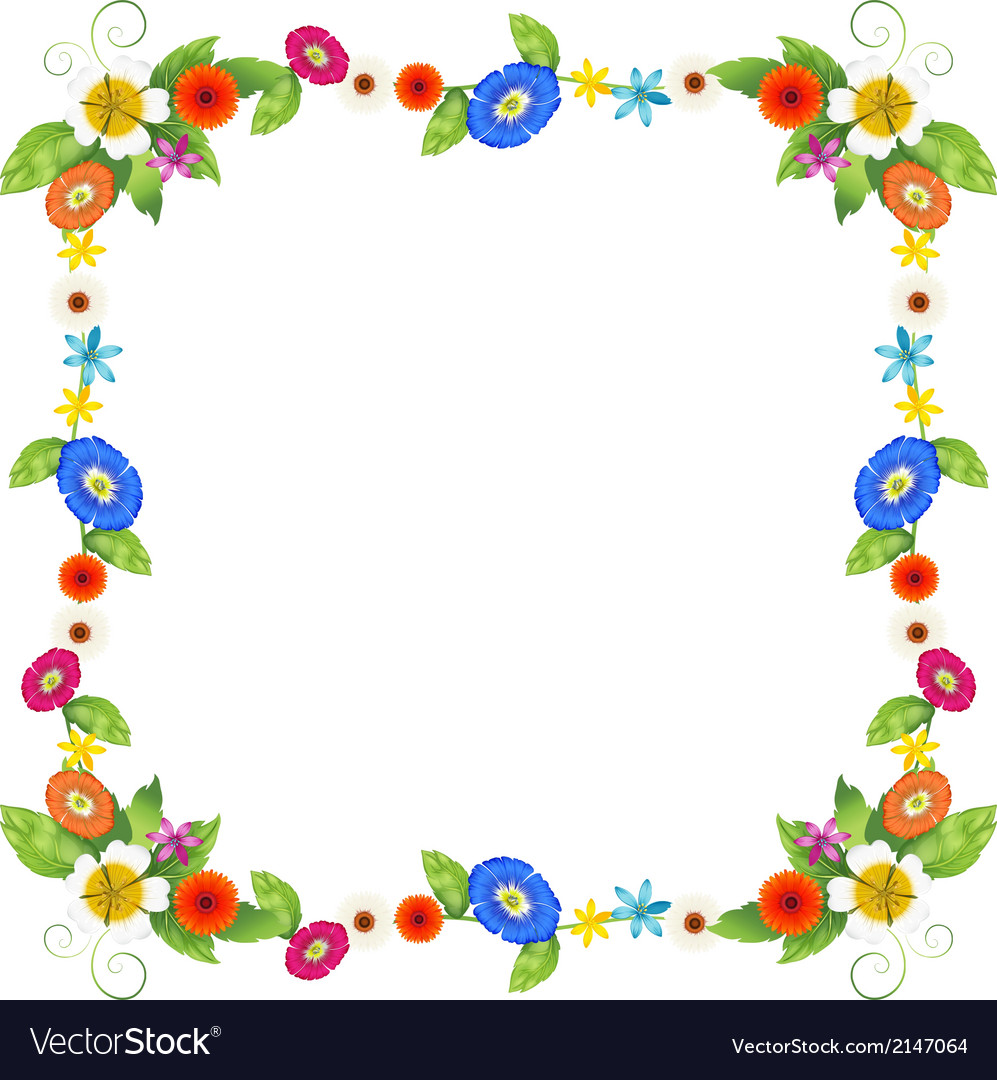 Cute Fairy Wallpaper Download A Colourful Border Design Royalty Free Vector Image