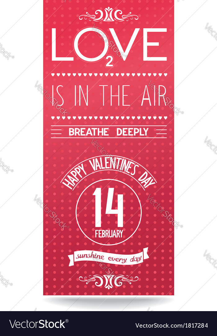Just Valentines day flyer with text design Vector Image