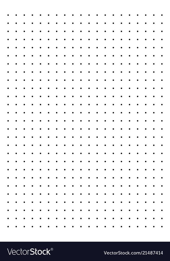 Dot grid paper graph Royalty Free Vector Image