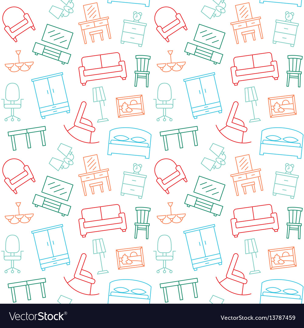 Sofa Texture Vector Furniture Seamless Color Pattern Background