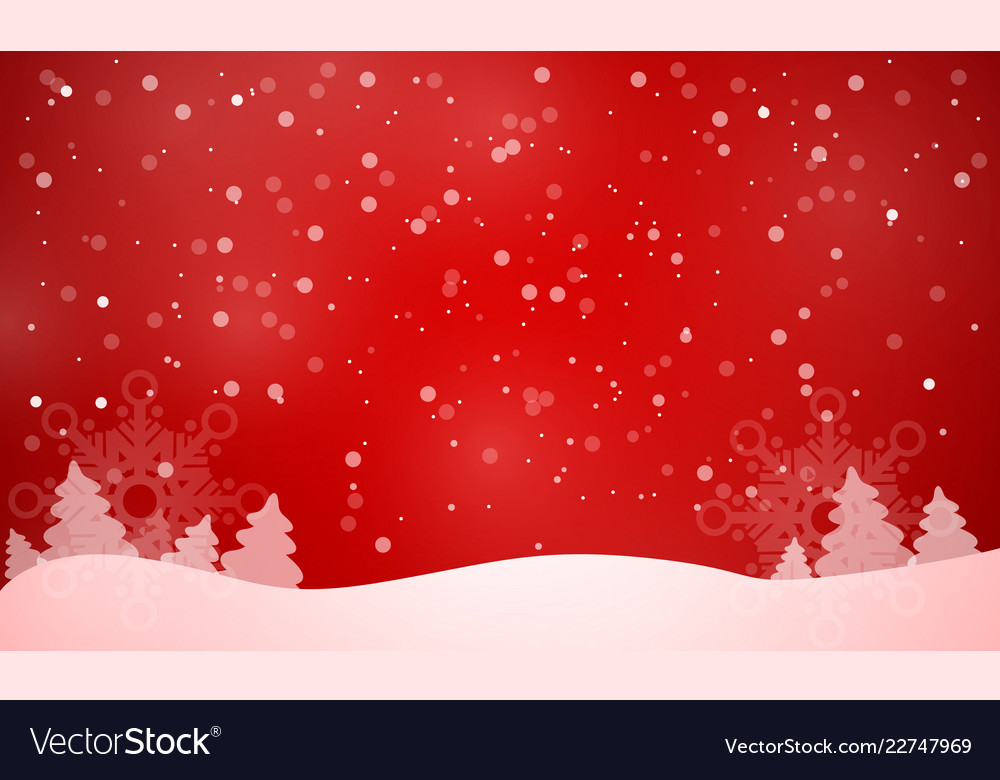Elegant christmas red background Royalty Free Vector Image