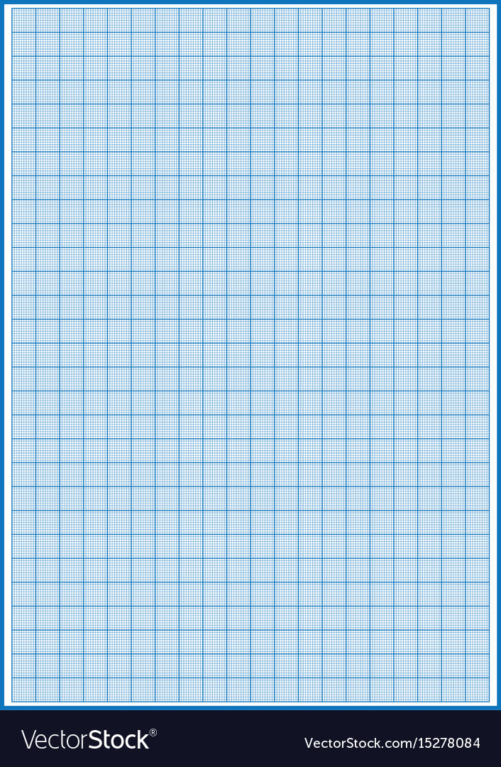 Graph paper with grid cyan color on a4 sheet size Vector Image - A4 Sheet Size