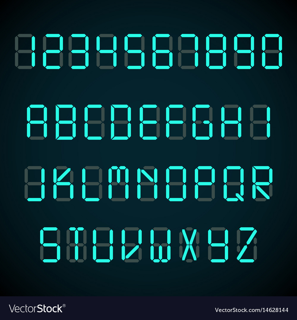 Digital Clock Digital Font Alarm Clock Letters And Numbers
