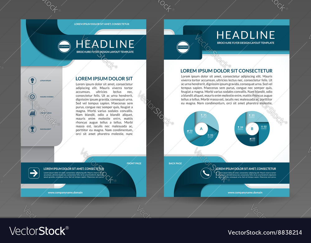 Brochure annual report layout template Royalty Free Vector