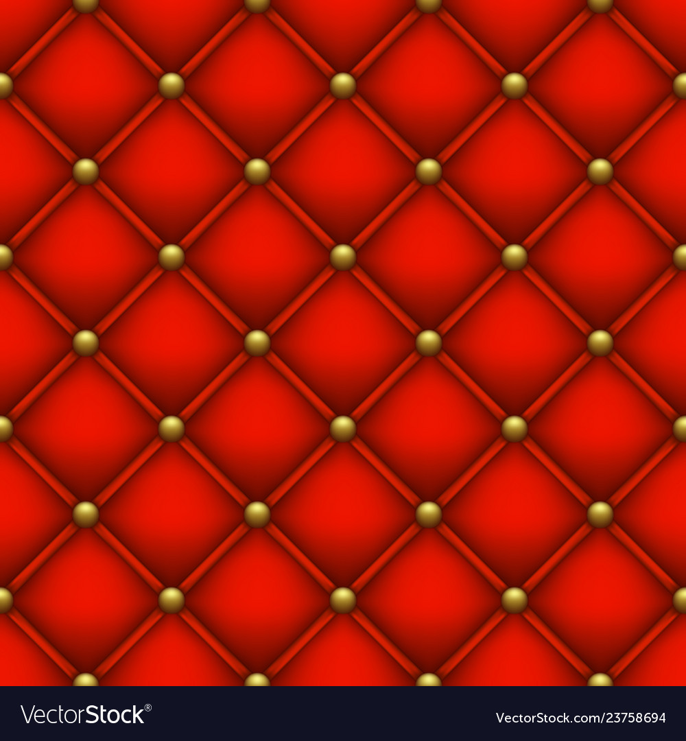 Quilted Fabric Red Background From Quilted Fabric