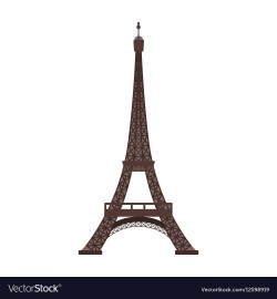 Phantasy Eiffel Tower Icon Cartoon Style Isolated On Vector 12598919 Paris Eiffel Tower Cartoon Eiffel Tower Cartoon Black