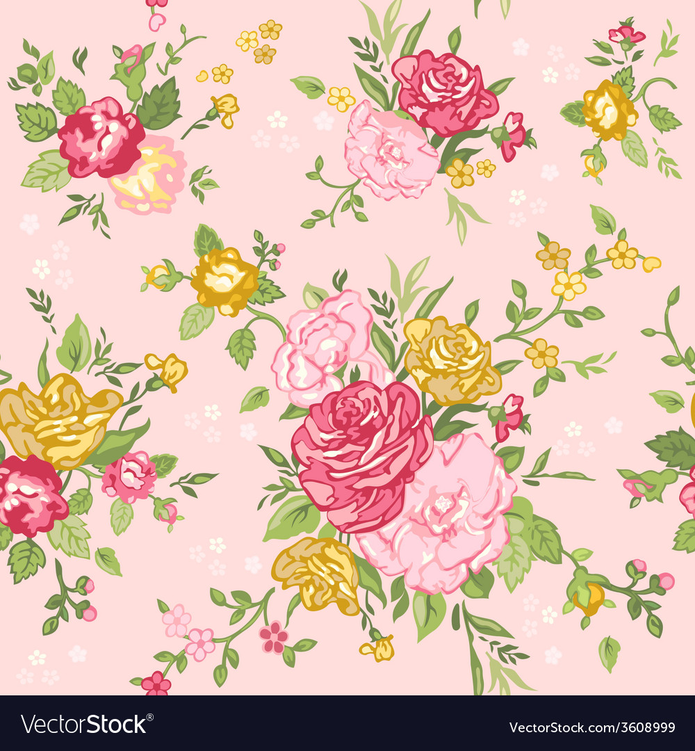 Shabby Chic Seamless Floral Shabby Chic Background