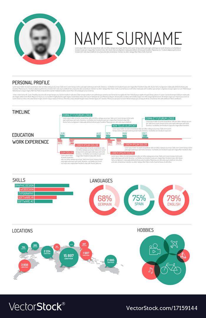 Original minimalist cv resume template Royalty Free Vector - minimalist resume template